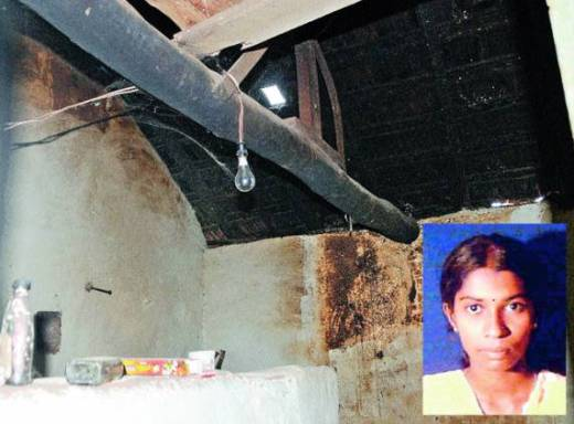The place inside the house of Govindaraju where Suvarna (inset) was forced to hang herself to death by her own father.