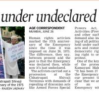 India has UNDECLARED EMERGENCY- People Speak, India Speaks !