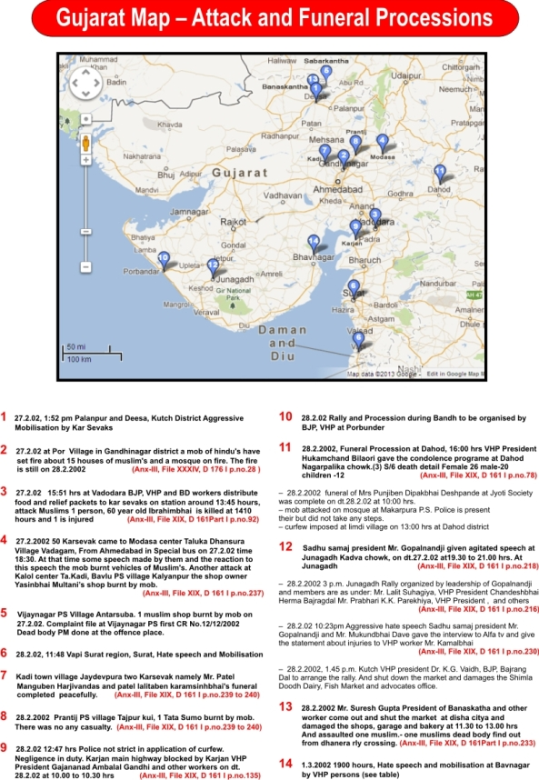 Guj Map Attack and funeral procession