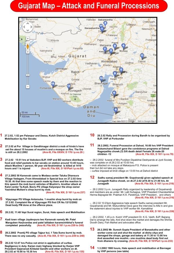 Guj Map Attack and funeral procession