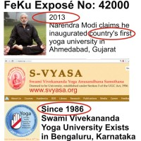 Narendra Modi claims he inaugurated India's First Yoga University #Fekuexpose